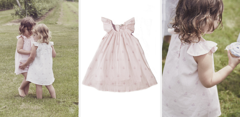 Flutter sleeve dress, $90.