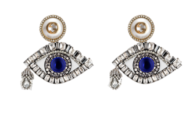 Gucci Eye Earrings with Crystals, $1,150, Gucci.com