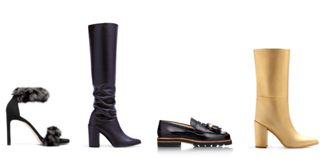 A selection of Stuart Weitzman shoes available at the brand's upcoming trunk shows