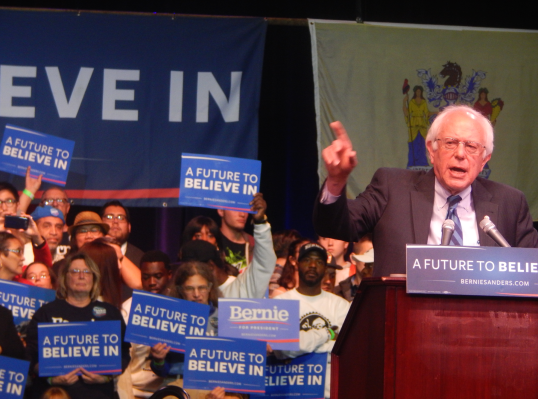 Sanders lights on Taj Mahal labor disputes as he brings the campaign to New Jersey