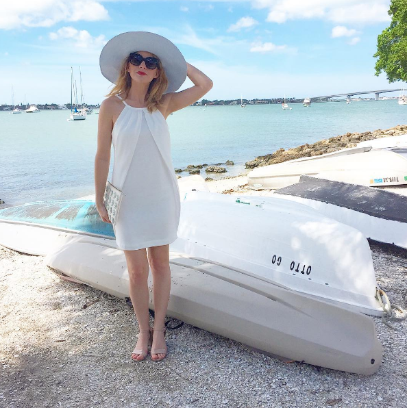 Camilyn Beth by a boat.