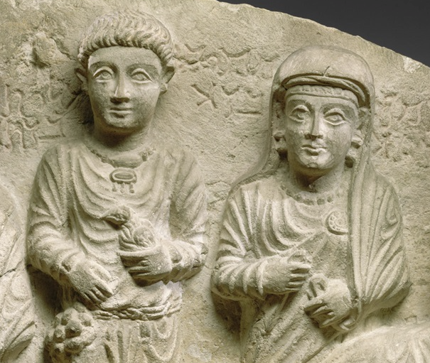 Funerary relief, ca. 2nd–3rd century A.D., Syria, probably from Palmyra.