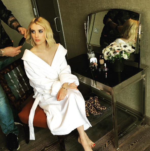 Emma Roberts is one of the many celebrities who use Oribe products.