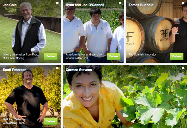 A few of the winemakers.