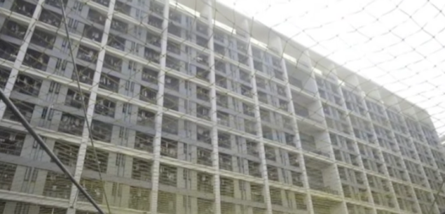 "Nets placed below worker dorms after ""the Foxconn suicides."""