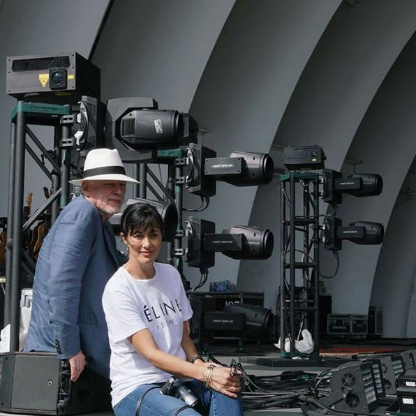 David Gilmour and Polly Samson.