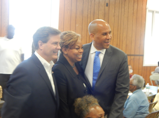 Norcross, Redd and Booker at Friday's rally in CD1.