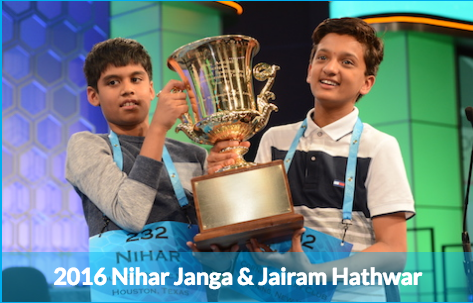 2016 Scripps National Spelling Bee champions.