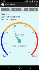 Bit-Finder Geo's signal strength tracker.