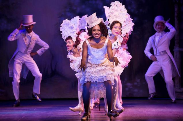 """Adrienne Warren and company perform """"I'm Just Wild About Harry"""" in Shuffle Along."""