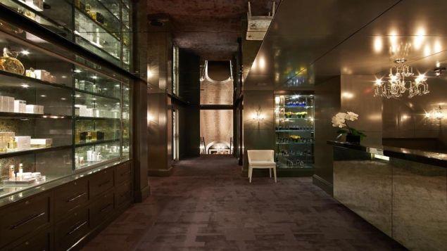 The lobby at Sisley Spa.