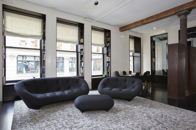Nick Denton's sort of sterile Soho loft, now renting for $15K a month.