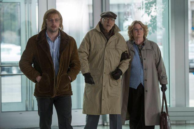 Matthew Rhys as Philip Jennings, Frank Langella as Gabriel and  Marceline Hugot as Theresa.