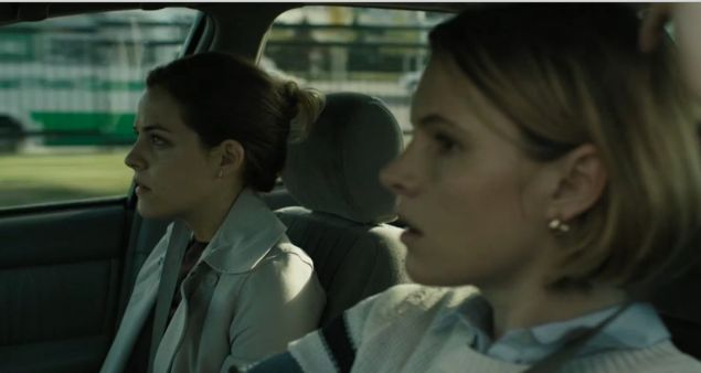 Riley Keough (left) and Amy Seimetz (right) having fun in The Girlfriend Experience.
