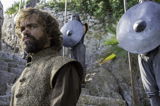 Peter Dinklage as Tyrion Lannister.