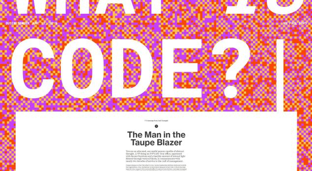 "What Paul Ford's ""What Is Code?"" looked like on Bloomberg."