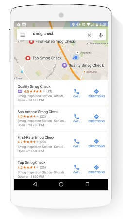New local search ads