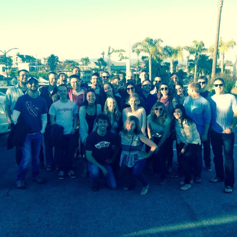 The Scripted team in Santa Cruz