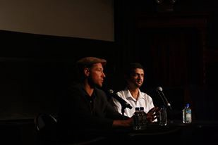 Edward Burns and I at an event for the San Francisco Film Society