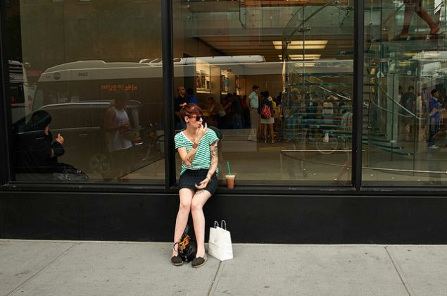 57th Street, by the Apple Store.