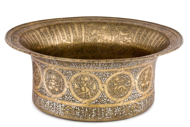 5 Basin with Signs of the Zodiac Jazira or Syria, ca. 1240–1300.