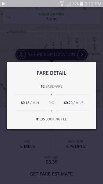 Fare details for Fort Wayne, Indiana.
