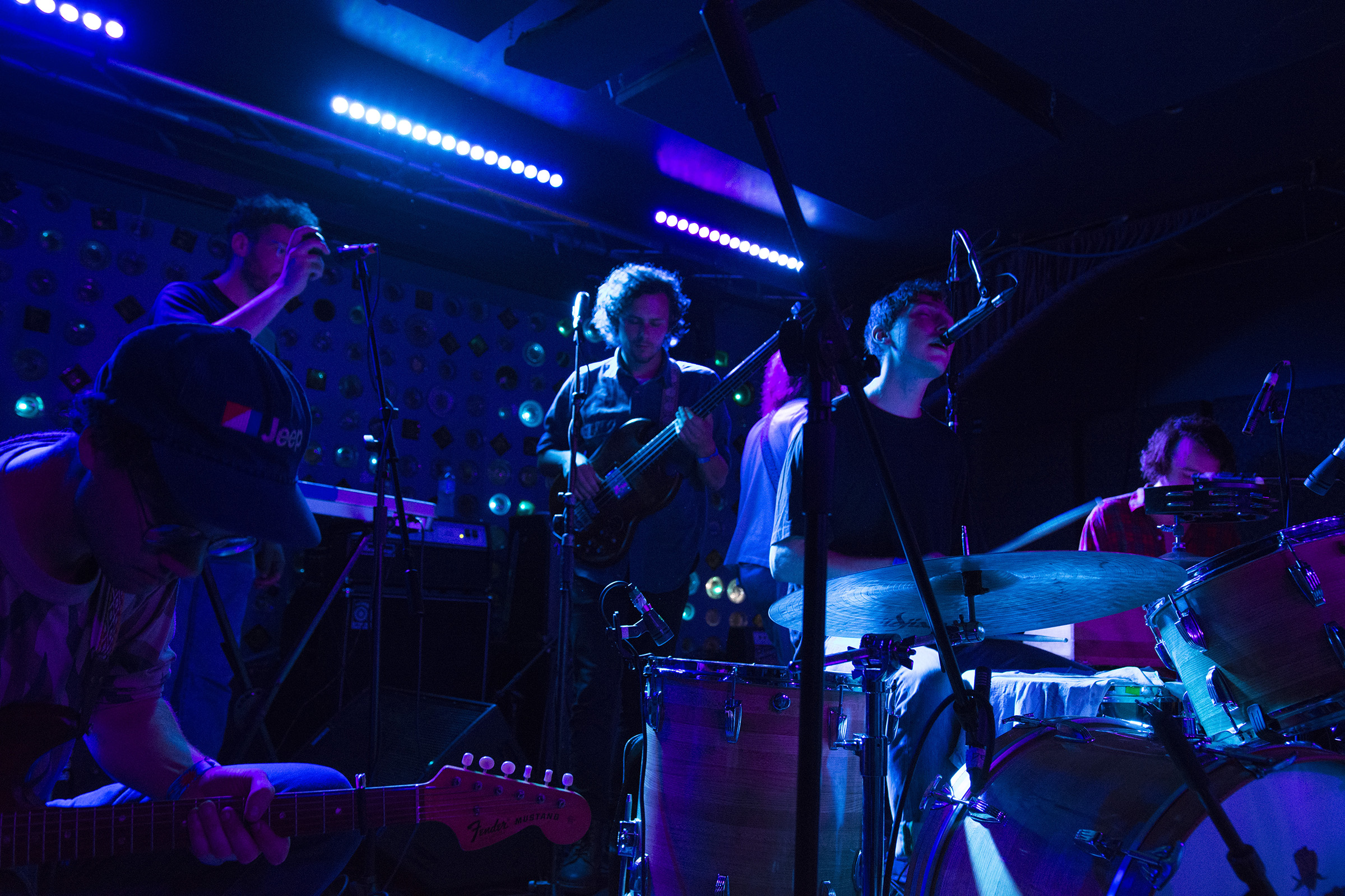 Whitney plays at their album release show at Baby's All Right in Brooklyn, NY on June 3, 2016.