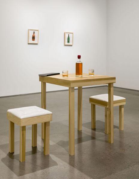 """Installation view: MK Guth, """"Shout, Recount, Get Drunk,"""" 2016."""