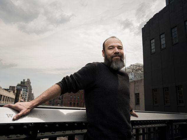 Danny Burstein, on location in New York's High Line Park.