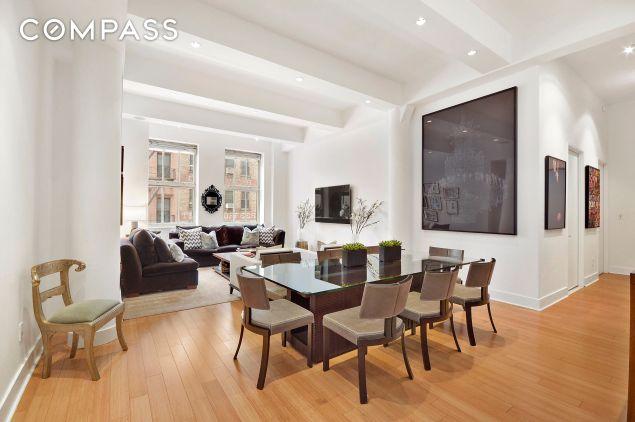 Their new Tribeca loft isn't quite as spacious as their D.C. home...