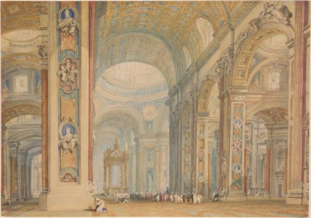 J. M. W. Turner's Interior of St. Peter's Basilica, Rome.