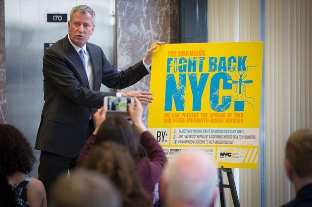 Mayor Bill de Blasio discusses Zika virus prevention efforts in New York City.