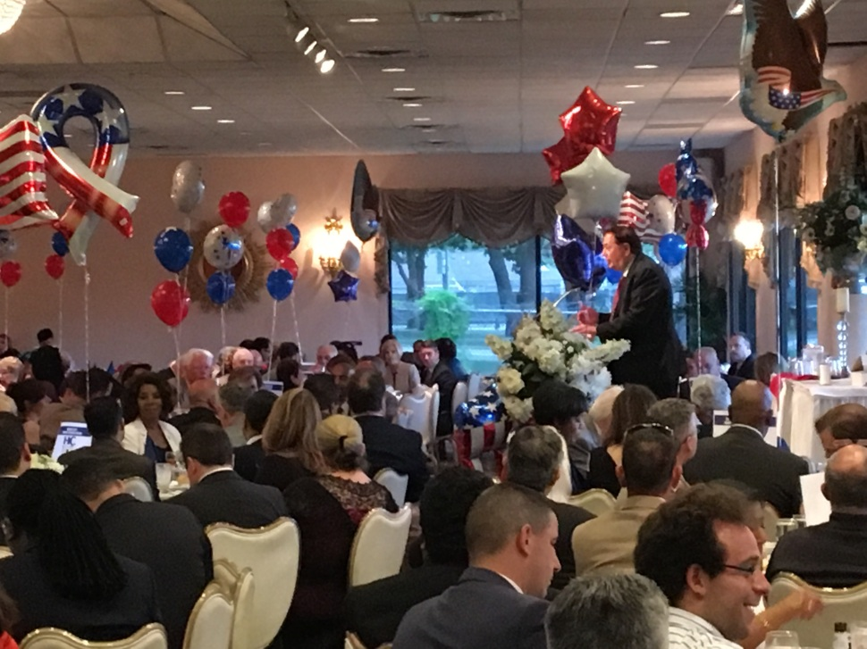 Ahead of Tuesday's Primary election, State Senator Nick Sacco (D-32) last night regaled members -of the Hudson County Democratic Organization (HCDO).