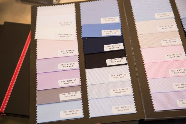 Bindle & Keep's suiting swatches