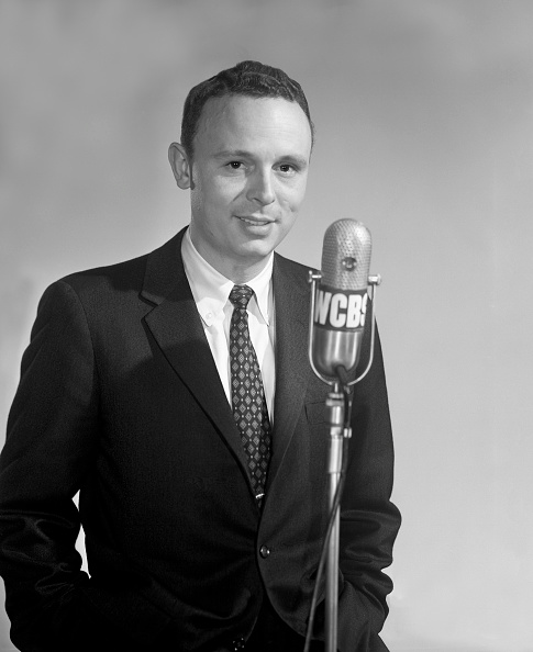 NEW YORK - JANUARY 30: Portrait of Peter Thomas, a television narrator and anchor for CBS News, New York. Image dated January 30, 1957.