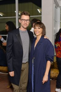 Brad Goreski poses with actress and comedian Rashida Jones at the opening on June 15, 2016.