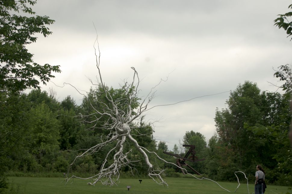 An artist's sculpture of a neuron, in Michigan.