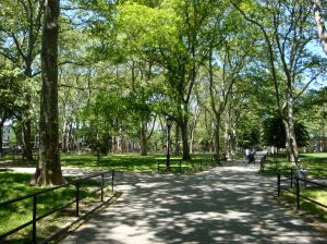 McGolrick Park in Greenpoint, home of the much-desired P.S. 110.