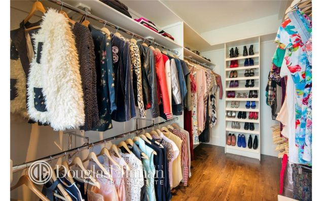One of Parker's former closets in her old Greenwich Village townhouse.