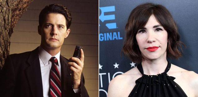 Actor Kyle MacLachlan and musician and actor Carrie Brownstein.