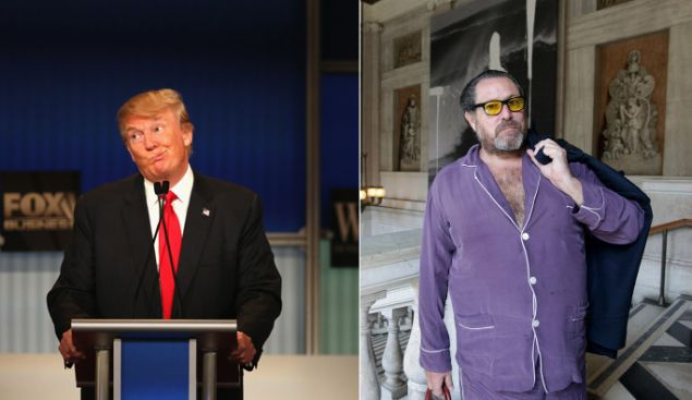 Donald Trump and Julian Schnabel: authors, influencers.