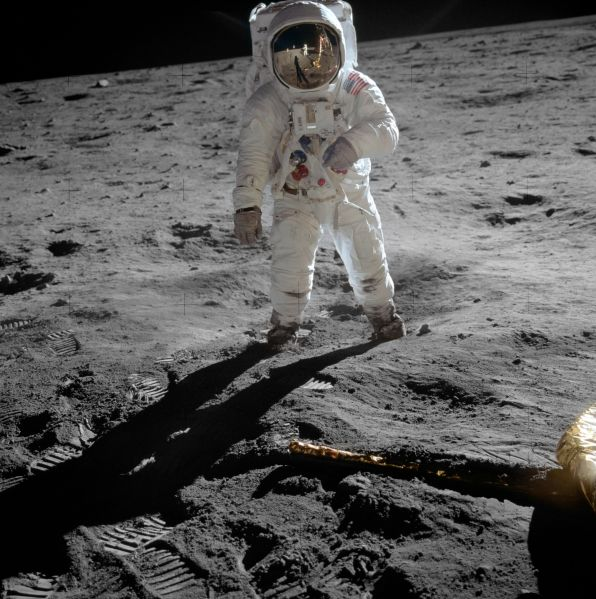 Buzz Aldrin on the Moon.