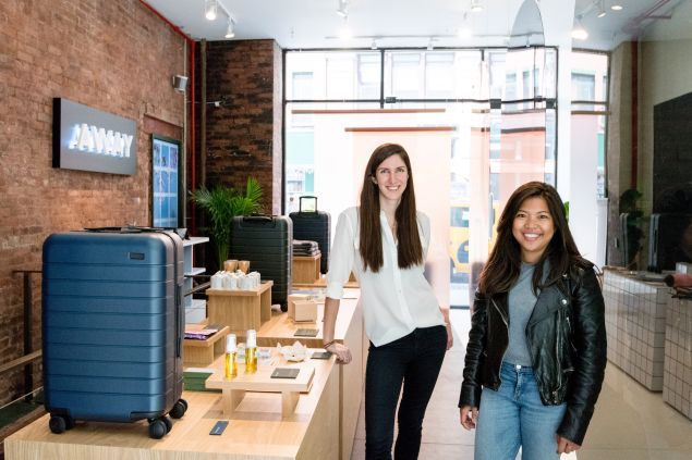 Warby Parker alums, Steph Korey and Jen Rubio, founded Away after having major luggage struggles.