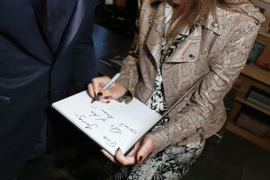 Carine Roitfeld signs her new book at Bookmarc in Manhattan.