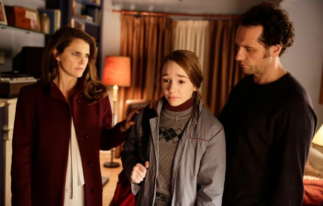 Keri Russell, Holly Taylor and Matthew Rhys in The Americans.