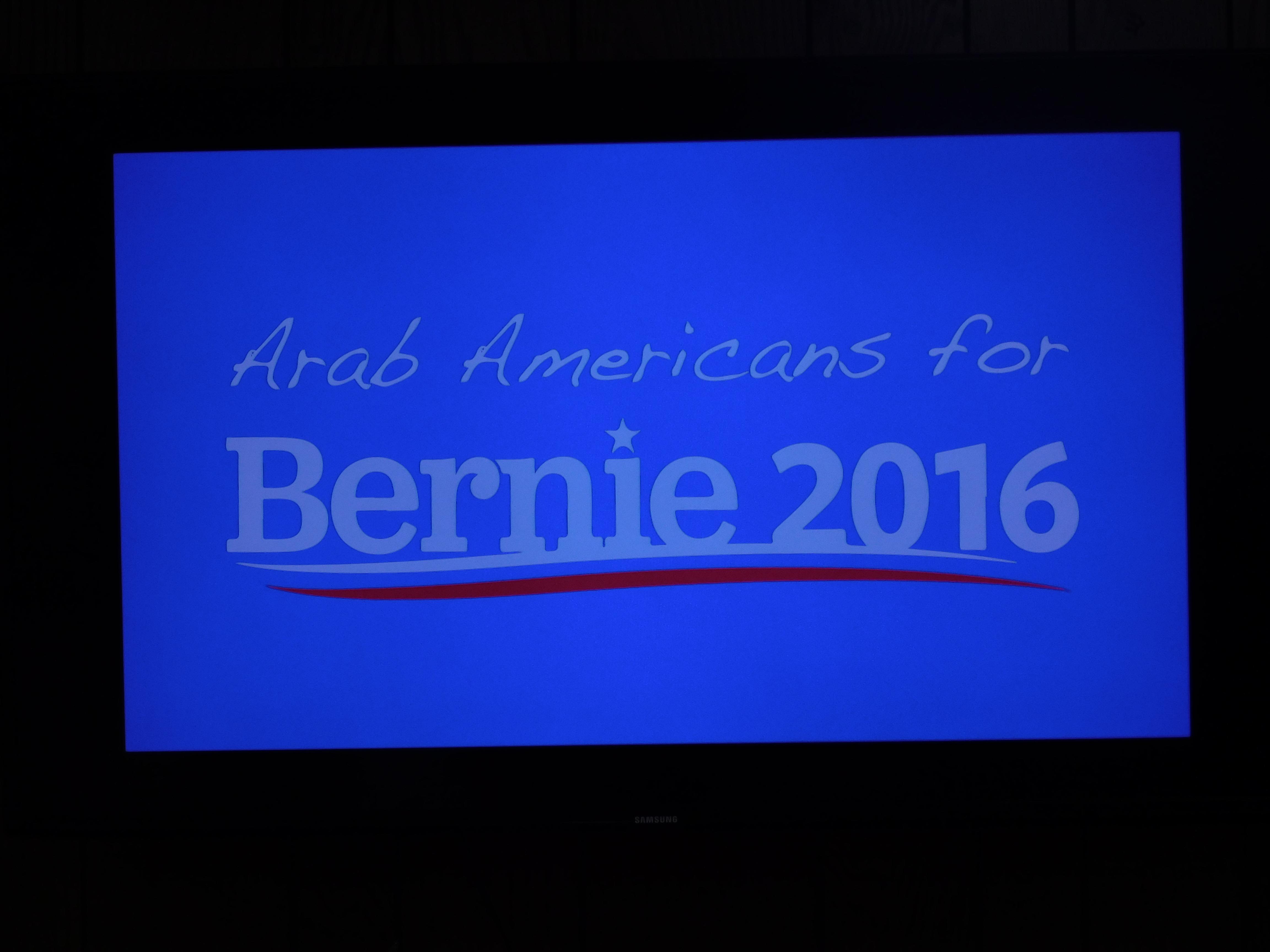 Arabs for Bernie