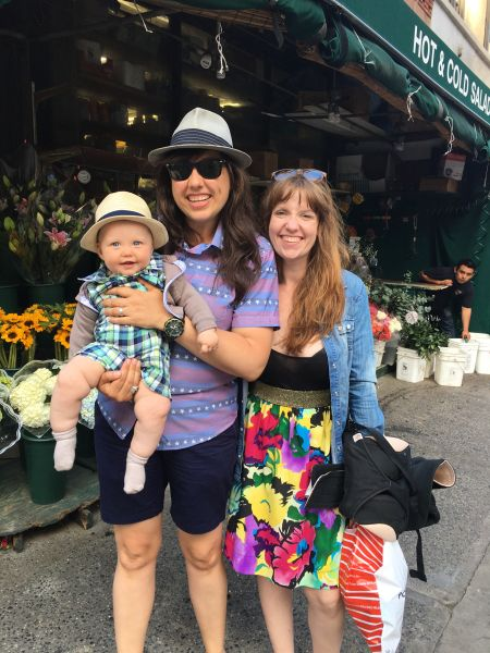 Weleet co-founders Erin and Jennifer Gore with their baby Nash on Memorial Day.