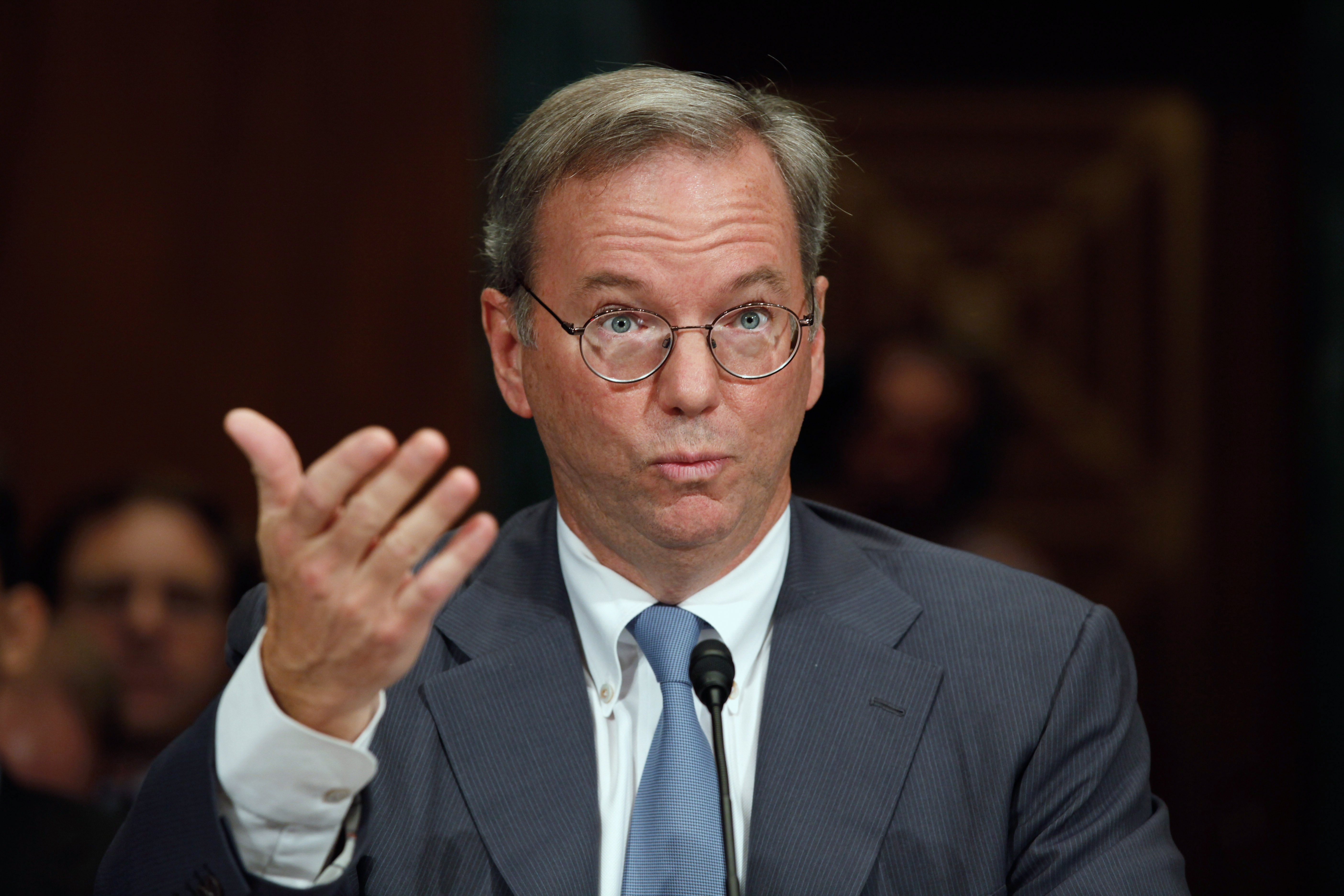 Google Chairman Eric Schmidt faced a Senate Judiciary Subcommittee hearing called 'The Power of Google: Serving Consumers or Threatening Competition' in 2011.