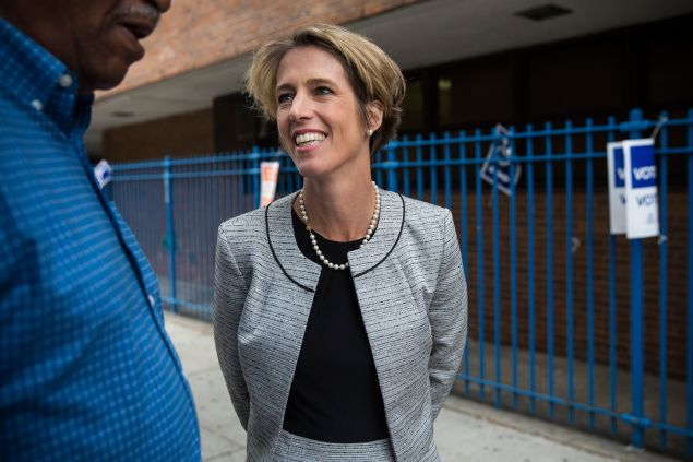 Zephyr Teachout, a Democratic candidate in today's Congressional primary. (Photo by Andrew Burton/Getty Images)