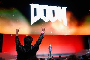 Presentation on a sequel to the 'Doom' series, the original first-peson-shooter, at E3 2015. The new game came out last month.